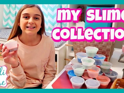 MY SLIME COLLECTION ~ INCLUDING GLITTER & CANDLE SLIME!