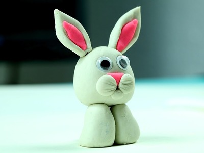 Play Doh Easter Bunny - Easy Clay Modelling Craft for Kids