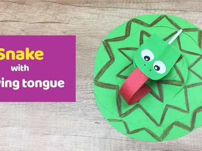Snake with moving tongue simple, fun and quick craft for kids.