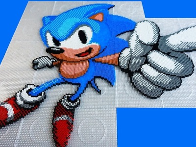SONIC THE HEDGEHOG - Hama Beads. Perler Beads