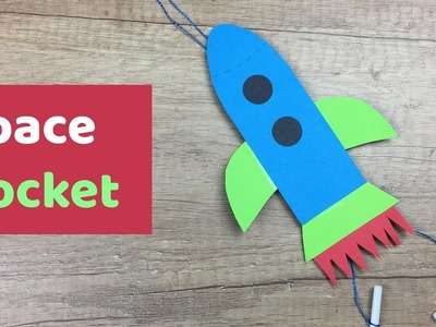Space rocket craft for kids, super easy to make! Great toy and activity.