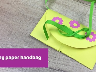 Spring paper handbag, super cute and easy to make craft!
