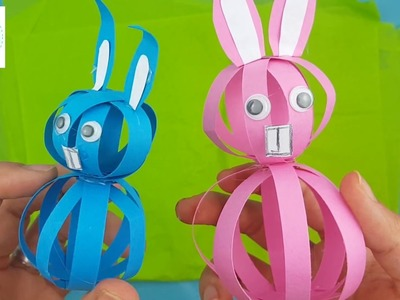Super Easy Easter Paper Bunny Craft For Kids | Step By Step Tutorial | FRISHTA DIY CRAFTS