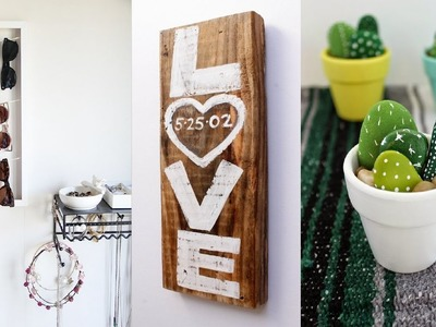 20 DIY Room Decor - DIY Room Decoration - Home Decor DIY Pinterest 2017