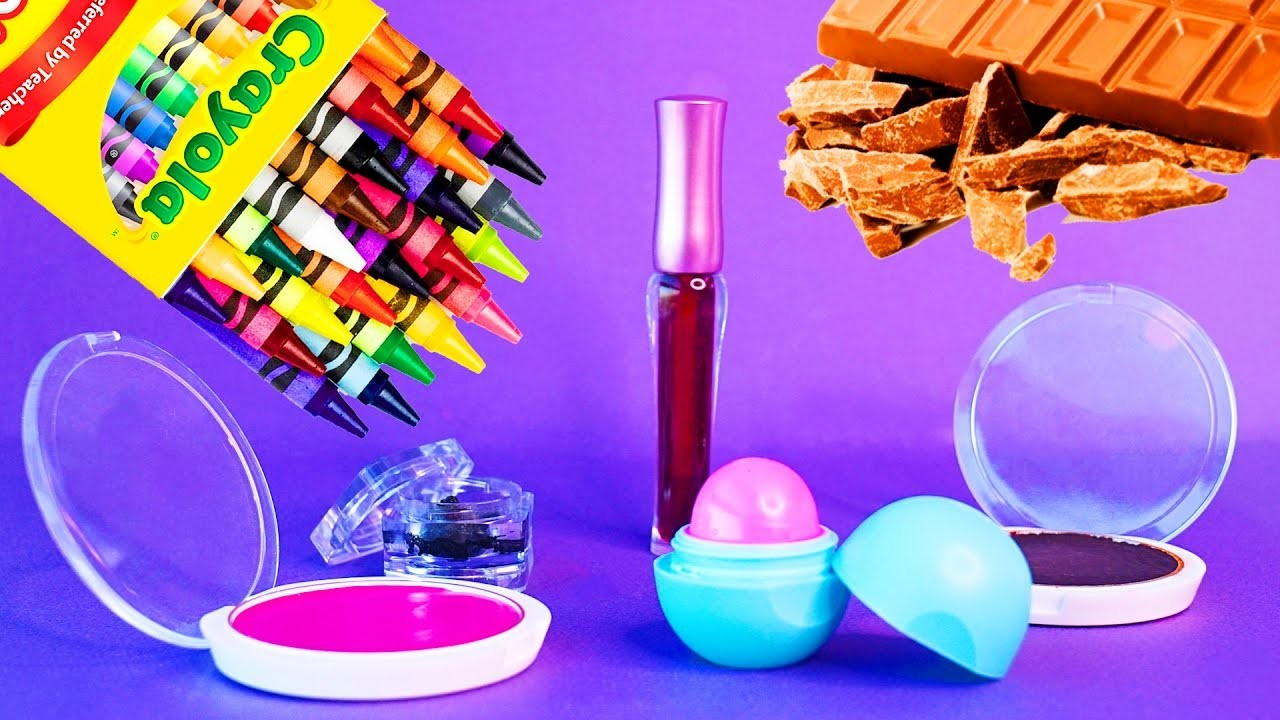 5 DIY Makeup Projects You Need To Know! Simple DIY Lipstick using Supplies like EOS, Crayons! !
