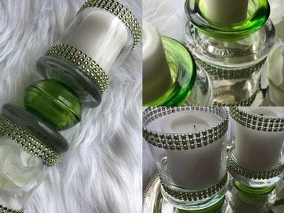 $5 DOLLAR TREE DIY CANDLE HOLDERS | 3 CANDLE HOLDER IDEAS