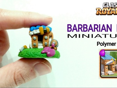 Barbarian Hut   Clash Royale   Polymer Clay Tutorial