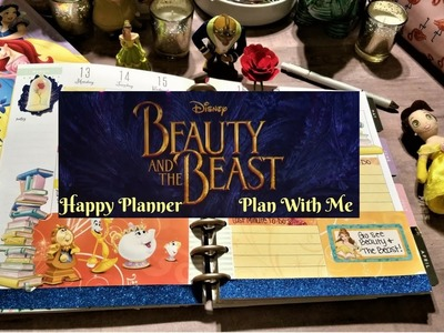 Beauty and The Beast Plan With Me + DIY Rose Paper Clip & Planner Cover
