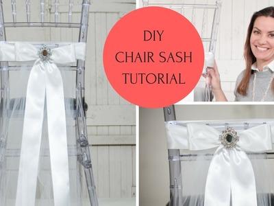 Chair Sash Ideas   Chair Sash DIY   Chair Sash Tutorial