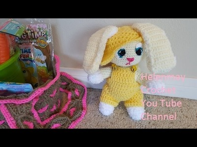 Crochet Amigurumi Easter Bunny Rabbit Hat DIY Video Tutorial
