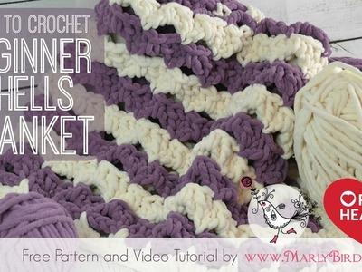 Crochet Beginner Shells Baby Blanket Afghan