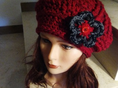 CROCHET BERET HAT easy tutorial step by step
