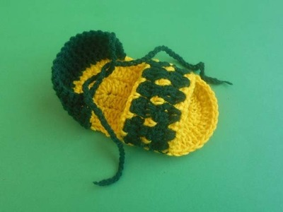 (Crochet-Crosia) how to make a baby sandal (part-1)