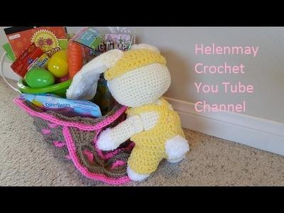Crochet Hearts Easter Basket Part 2 of 2 DIY Video Tutorial