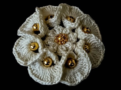 CROCHET How to Crochet 3D Flower - Pattern