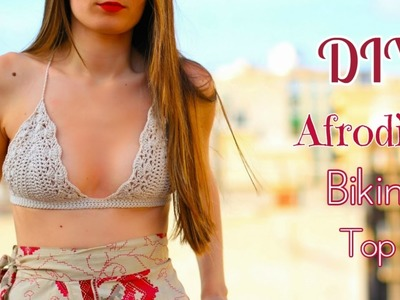 DIY Afrodita Crochet Bikini Top tutorial with written instructions!