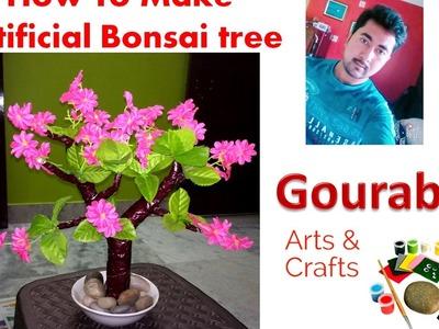 DIY Artificial Bonsai Tree Tutorial | How to make | Back To School - Full  Video || Tutorial