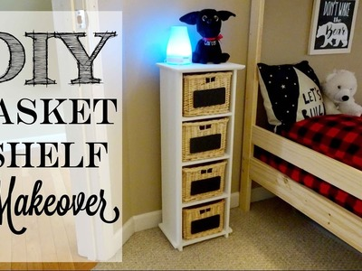 DIY Basket Shelf Makeover