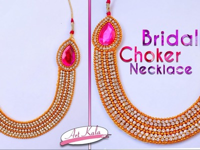 DIY: Bridal Choker | Bridal Silk Thread Necklace at Home | Tutorial | Artkala 148