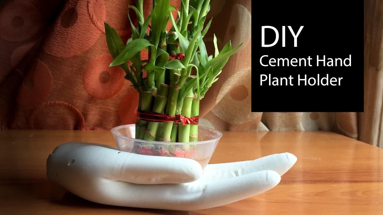 DIY Cement Plant Holder Tutorial | How To Make Plant Holders | Home Decor - Anushree's Craft TV