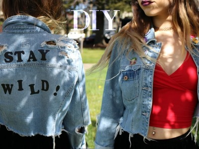 DIY Cropped Denim Jacket. Old to New Transformation!