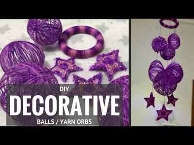 DIY Decorative Balls aka Yarn Balls and Orbs