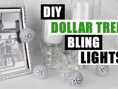 DIY DOLLAR TREE BLING DECOR LIGHTS DIY String Lights Tutorial Dollar Store DIY Glam Bling Room Decor