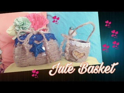 DIY ❤ Easy Jute Rope Basket. Coir Rope Basket ❤Plastic bottle project
