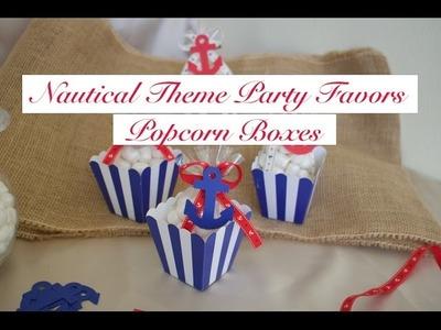 DIY Easy Nautical.Sailor Theme Party Favor- Anchor Popcorn Boxes