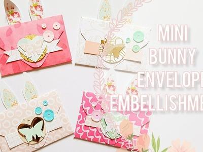 DIY Embellishments. Mini Bunny Themed Envelopes Process