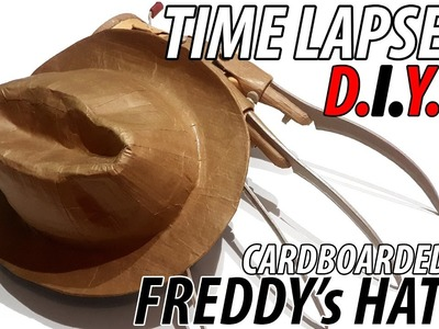 "DIY Freddy's Hat from Nightmare on Elm Street  made from Cardboard ""MUST SEE"" Time Lapse"