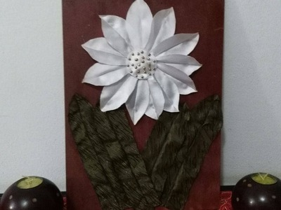 DIY Home Decor - How to Make a Fabric Flower for Wall Decor + Tutorial !