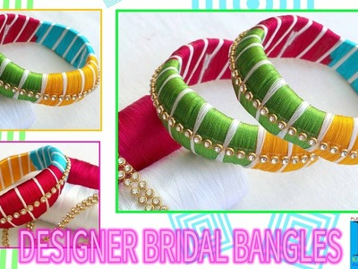 DIY | how to make designer silk thread bangles with multi colours silk threads | tutorials