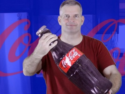 DIY How To Make GIANT GUMMY COKE BOTTLE