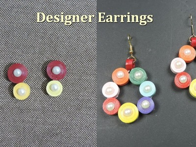 DIY | How to make Paper Quilling Earrings at Home