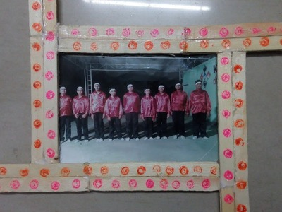 DIY: How to make photo frame using popsicle sticks, ice cream sticks