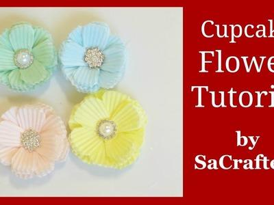 DIY:How to:Tutorial:Making flowers using cupcake sleeves