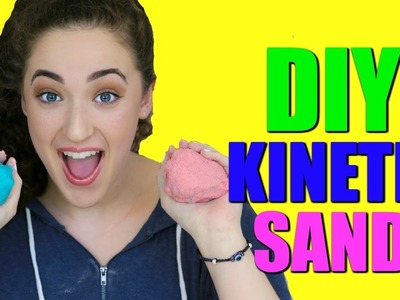 DIY KINETIC SAND   HOW TO MAKE HOMEMADE KINETIC SAND