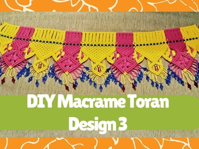 DIY Macrame Toran Tutorial Design 3 | Macrame Art