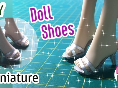 DIY Miniature Doll Shoes | How to make Shoes for your Doll | Dollhouse