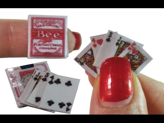 DIY Miniature ▲Pack of Cards▲ for Dollhouse TUTORIAL – Crafts
