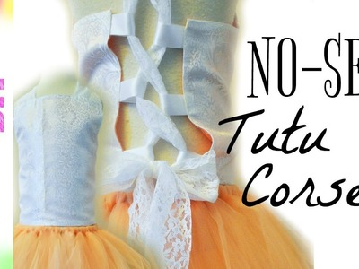 DIY No-Sew Corset for Flower Girl Tutu Dresses