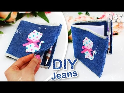 DIY ORGANIZER PLANNER ???? CUTE JEANS NOTEPAD for Lady (Tutorial)