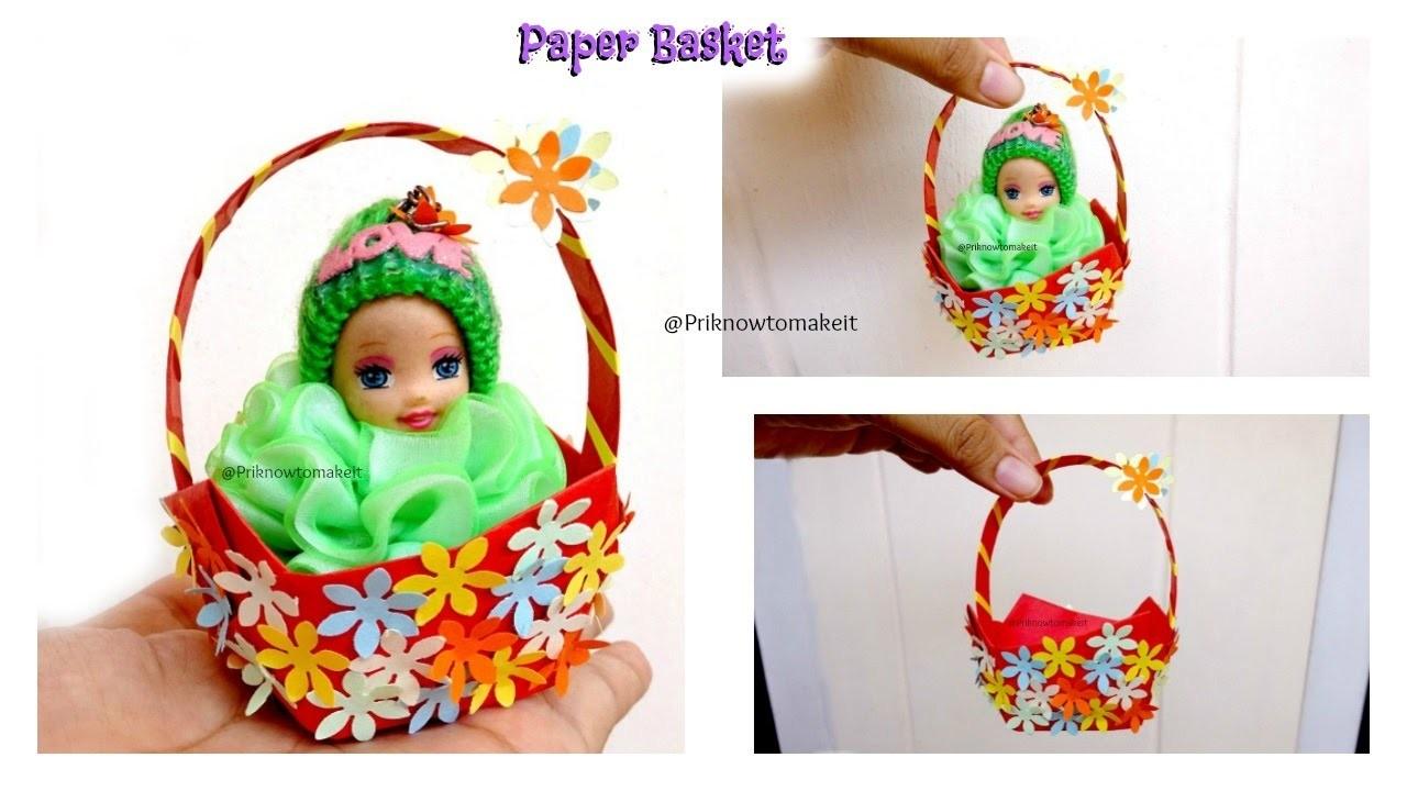 diy paper basket how to make easy origami basket easter