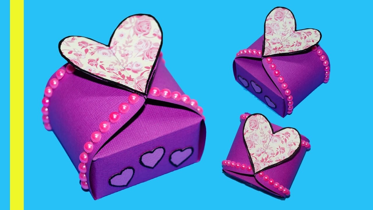 Diy paper crafts idea gift box sealed with hearts gift heart diy paper crafts idea gift box sealed with hearts gift heart box making ideas julia diy jeuxipadfo Gallery