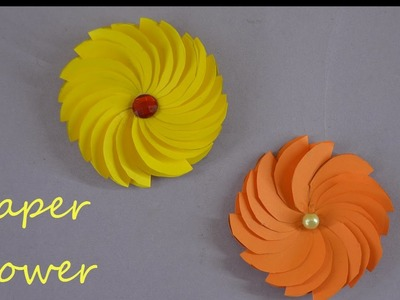 DIY PAPER FLOWERS TUTORIALS| easy circle paper flowers for room decoration
