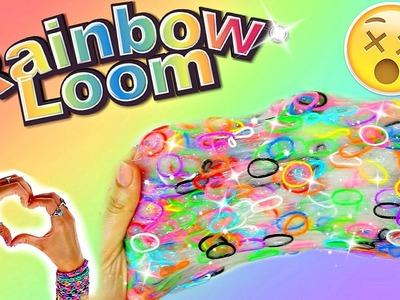 DIY RAINBOW LOOM BAND SLIME I Popping Rubber Band Slime I Regenbogenschleim selber machen I PatDIY