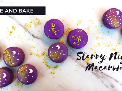 DIY Starry Night.Galaxy Macarons!
