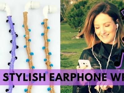 ???? DIY Stylish Earphones wrap  How to make Headphones Decoration  Φτιάξτε κόσμημα με ακουστικά