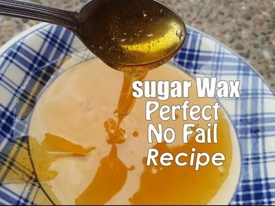 DIY Sugaring wax Recipe and Tutorial-perfect No fail Recipe